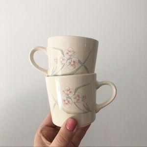 Vintage Corning 1980's Floral Coffee Mug Boho